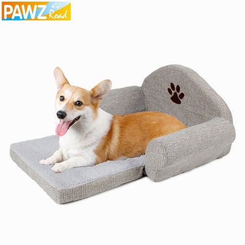 Dog Bed Sofa Gray Color