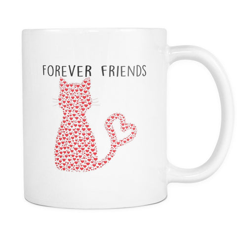 Drinkware - Forever Friends Cat Hearts Mug 11oz
