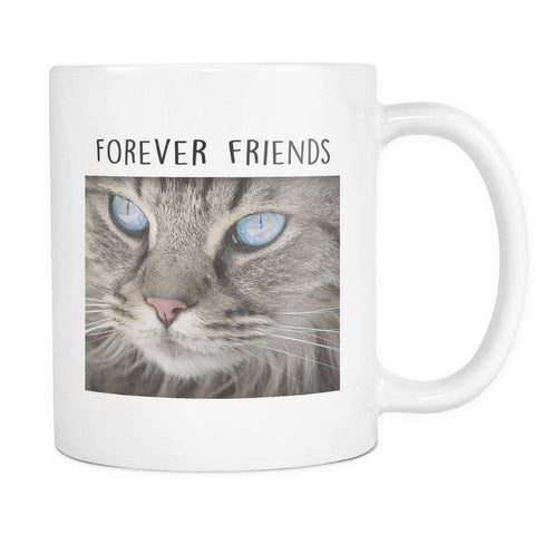 Drinkware - Forever Friends With My Cat Face Mug 11oz