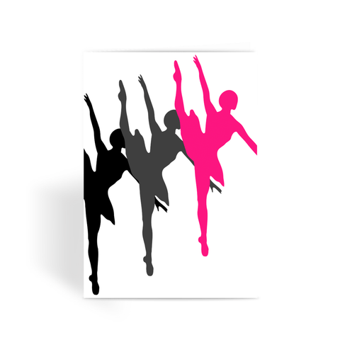 Greeting Card - Dancers Greeting Card - FREE SHIPPING