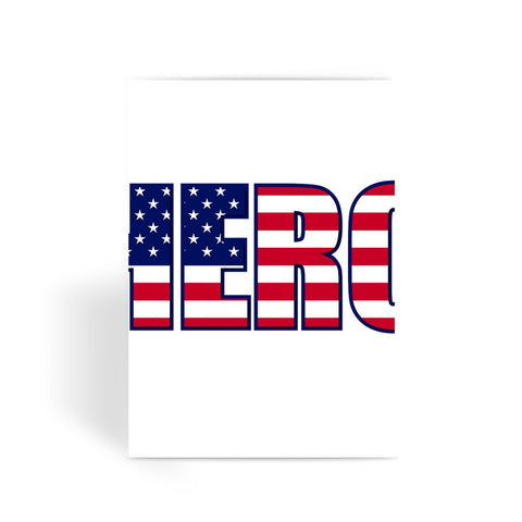 Greeting Card - Hero USA Greeting Card - FREE SHIPPING