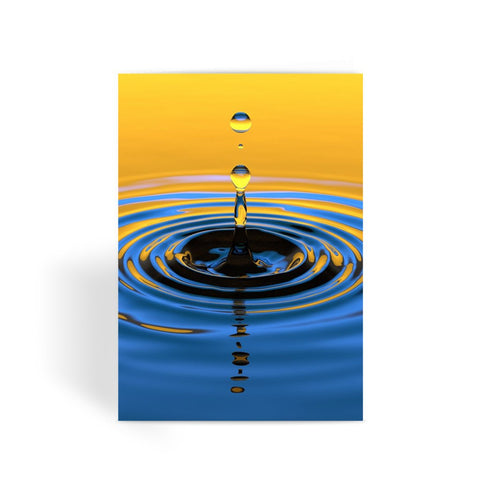 Greeting Card - Orange Water Drop Greeting Card - FREE SHIPPING