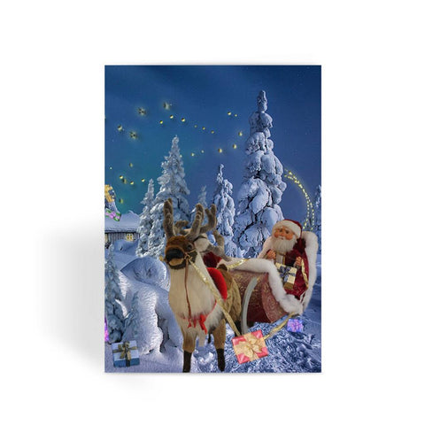 Greeting Card - Santa Sleigh Greeting Card - FREE SHIPPING