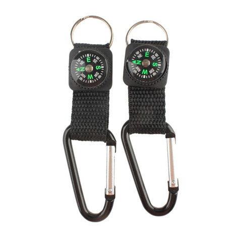 Hiking - Portable Compass Hiking Aluminum Clasp Carabiner - FREE SHIPPING