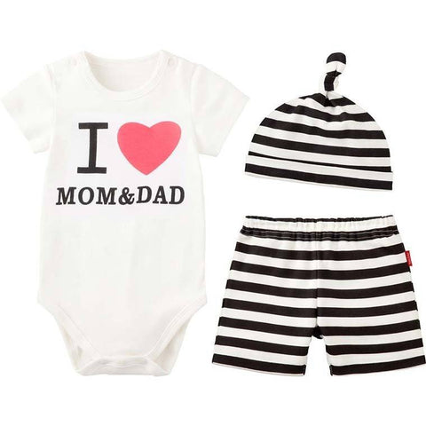 I Love Mom & Dad Baby Girl Jumpsuit