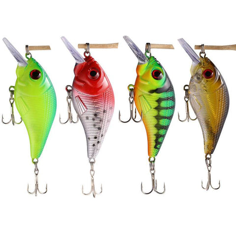 Lures - Plastic Fishing Lures Bass CrankBait - FREE SHIPPING