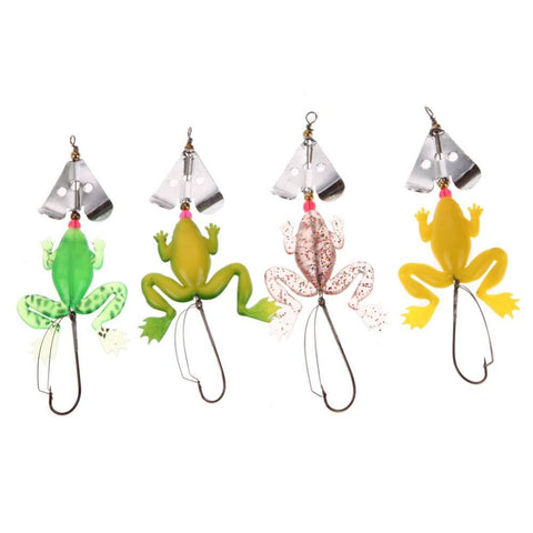 Lures - Rubber Frog Soft Fishing Lures Bass CrankBait - FREE SHIPPING