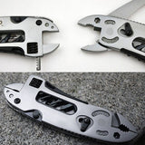 Multi Functional Tool Adjustable Wrench Jaw + Screwdriver + Pliers + Knife Tool Set