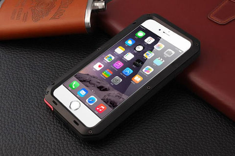 Phone Bags & Cases - Shockproof Aluminum Glass Metal Case Cover For Iphone 4 4S 5 5S SE 6 6s 6plus 6S Plus
