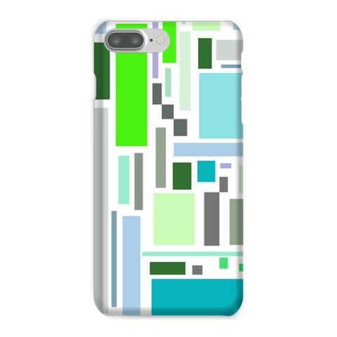 Phone Case - Retro Retangles Green Phone Case - FREE SHIPPING