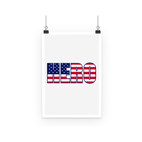 Poster - Hero USA Poster - FREE SHIPPING