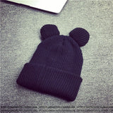 Skullies & Beanies - Cat's Ears Women's Beanie