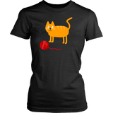 T-shirt - Cat With Red Ball Tee Shirt Or Hoodie