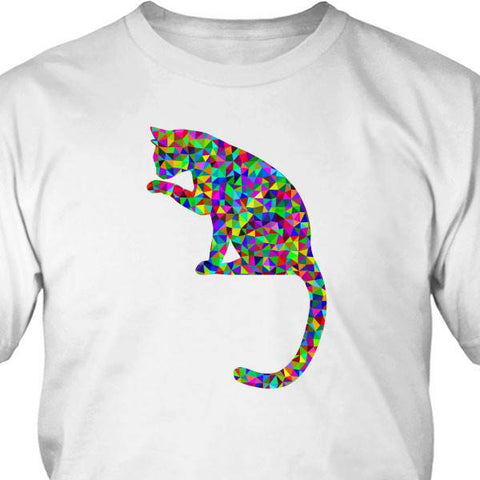 T-shirt - Multi Colour Cat Tee Shirt Or Hoodie