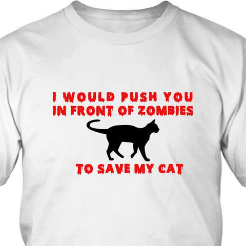 T-shirt - Save My Cat From Zombies