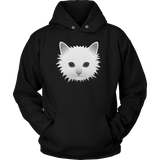 T-shirt - White Cat Face Tee Shirt Or Hoodie