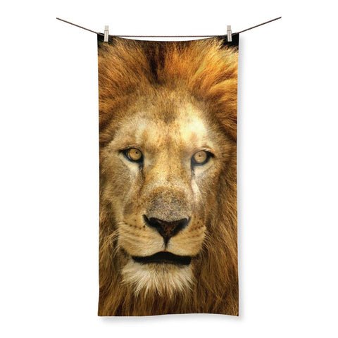 Towel - Lion Face Beach Towel