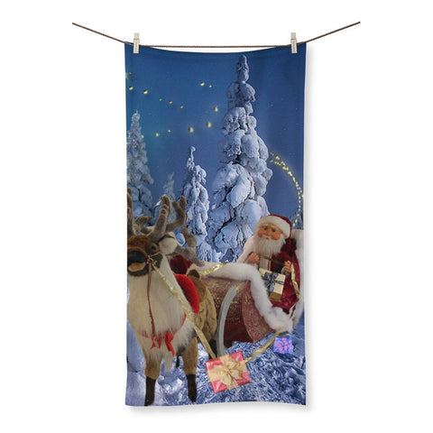 Towel - Santa Sleigh Beach Towel - FREE SHIPPING