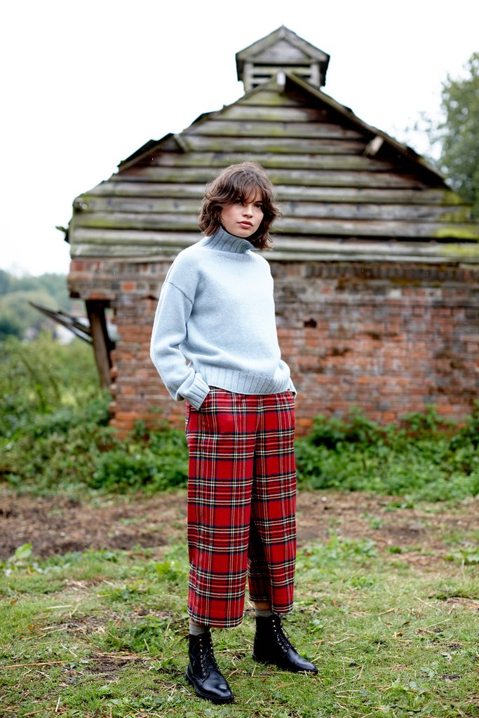 Tartan British Wool for a New Brighton Crop Trouser