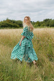 Isabel Green Gingham Primrose Hill Dress