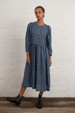 Blue Gingham Linen Arundel Dress