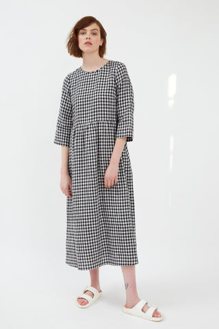 Linen Gingham Barnsbury Dress
