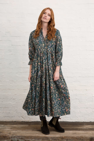 Embroidery Floral Camden Passage Dress
