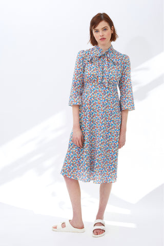 Thirties Floral Cotton Chloe Dress