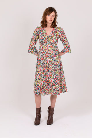 Festival floral Cotton Clifton Tea Dress