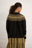 Olive Wool Fair Isle Cardigan