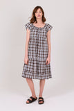 Brown Check Field Dress