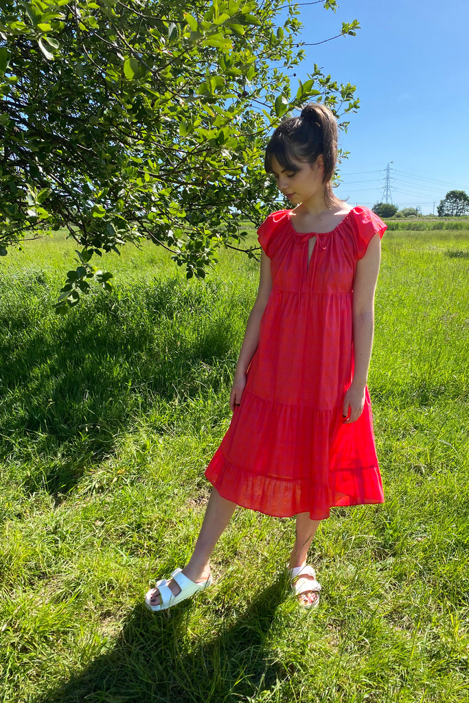 Sunset Gingham Field Dress