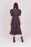 Navy Rose Cotton Frome Dress