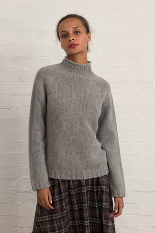 Silver Grey Lambswool Stornoway Jumper