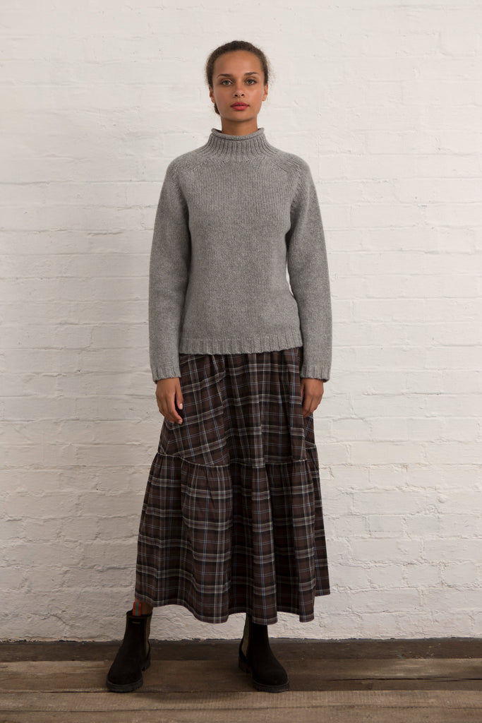 Brown Tartan Petticoat Skirt