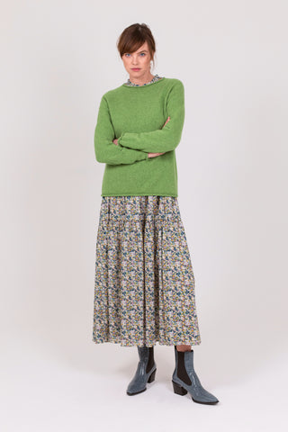 Leaf Green Lambswool Skye Jumper
