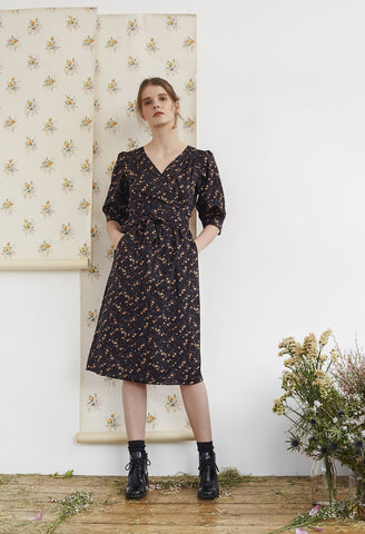Liberty Print Cotton Wrap Dress