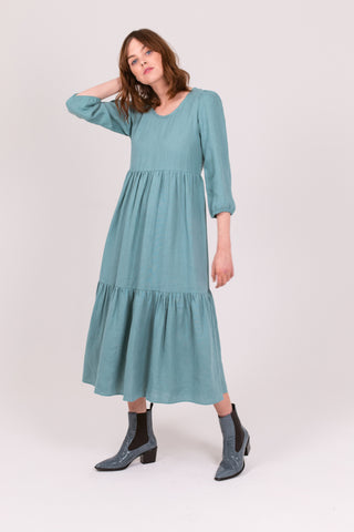 Mint Linen Petticoat Lane Dress