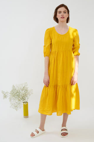 Saffron Linen Petticoat Lane Dress
