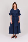 Navy Broderie Cotton Primrose Hill Dress