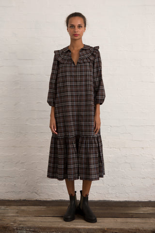 Brown Tartan Pimlico Dress