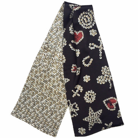 Pearly King Silk Satin Muffler Scarf
