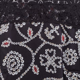 Pearly Queen Black Silk Dress