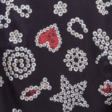 Pearly Queen Black Silk Top