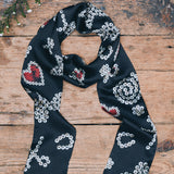 Pearly Queen Silk Satin Scarf