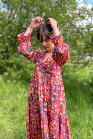 Columbia Road Floral Cotton Camden Passage Dress