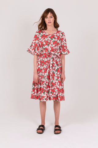 Liberty Rose Linen Cotton Poets Road Dress