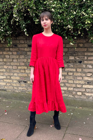 Poppy Linen Somerset Prairie Dress