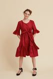 Scarlet Silk Primrose Party Dress