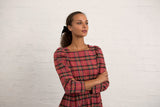 Rose Tartan Riding House Dress